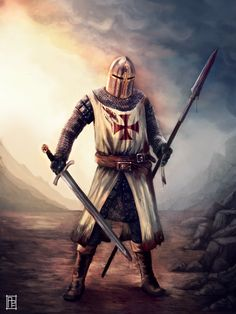 Knights Hospitaller, Knights Templar, Templar Knight Tattoo, Ancient History, European History, Masonic Art, Silver Knight, Crusader Knight, Christian Warrior