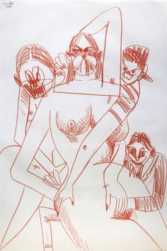 Four Figures by George Condo