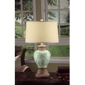 """Found it at Wayfair - Leona 28.25"""" H Table Lamp with Empire Shade"""