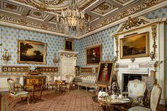 The Blue Drawing Room, Woburn Abbey. The State Suite was commissioned from… Beautiful Buildings, Beautiful Homes, Portuguese Royal Family, Woburn Abbey, Blue Drawings, English Interior, Romantic Homes, Historic Homes, Photo Galleries