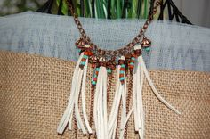 Fringe Necklace Cowgirl Necklace Western by TheCrystalCorral