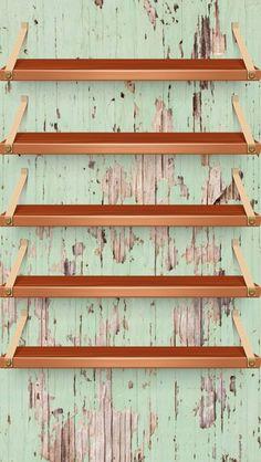 Обои iPhone wallpaper shelves