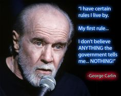 George Carlin Quote by CliffEngland.deviantart.com