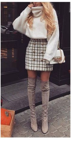Winter Outfits For Teen Girls, Cute Winter Outfits, Winter Fashion Outfits, Fall Outfits, Autumn Fashion, Winter Clothes, Winter Shoes, Sweater Fashion, Plaid Outfits