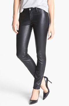 $98, BLANKNYC Faux Leather Skinny Pants. Sold by Nordstrom. Click for more info: https://lookastic.com/women/shop_items/139913/redirect