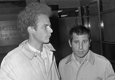 Simon & Garfunkel at Schiphol Airport, the Netherlands in 1966. Wikipedia