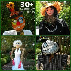 Ideas for your scarecrow from SC's Robert Mills House and Garden's annual scarecrow competition.  More than thirty scarecrows to inspire you!