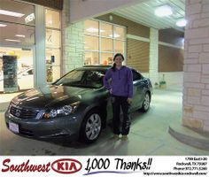 Happy Anniversary to Jaquetta Tamez on your 2009 #Honda #Accord Sdn from Teresa Toombs and everyone at Southwest KIA Rockwall! #Anniversary