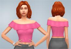 Sims 4 CC's - The Best: Carmen Top by Veranka