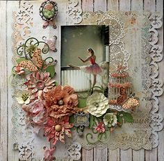Scraps of Elegance scrapbook kits shabby chic ballerina / ballet layout w/our May kit. Scrapbook Sketches, Scrapbook Page Layouts, Scrapbook Cards, Scrapbook Templates, Heritage Scrapbooking, Mixed Media Scrapbooking, Vintage Scrapbook, Wedding Scrapbook, Ideas Geniales