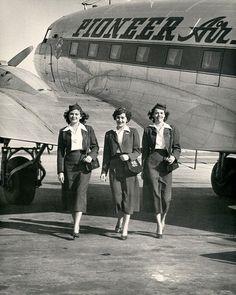 Undated Pioneer Airlines uniforms.