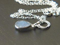 Druzy necklace, drusy gemstone, purple druzy, drusy pendant, druzy jewellery