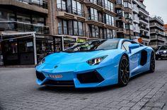 The Lamborghini Aventador is truly an incredible car. Huracan Lamborghini, Blue Lamborghini, Sports Cars Lamborghini, Lamborghini Diablo, Jaguar Sport, Bmw Sport, Sport Cars, Mercedes Sports Car, Porsche Sports Car