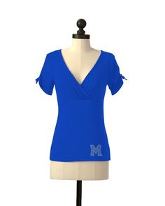 Memphis Tigers   Team Tie Sleeve Tee   meesh & mia