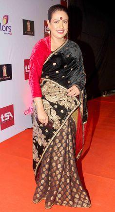 Ashwini Kalsekar at the Television Style Awards.