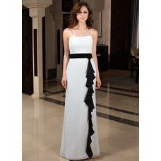[€ 87.39] Vestido tubo Escote corazón Vestido Gasa Dama de honor con Fajas Flores (022027155)