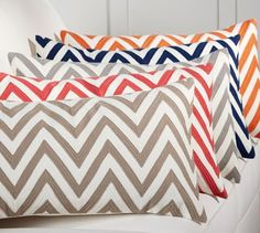 Chevron Crewel Embroidered Lumbar Pillow Cover | Pottery Barn was $60   now $47  SALE