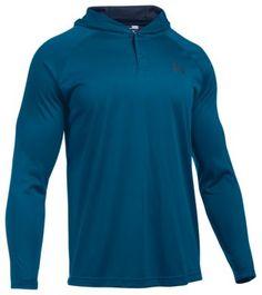 Under Armour Tech Popover Shirt for Men - Heron/Midnight Navy - 2XL