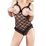 #5: VANKER Mujeres Señora See-Through Exposed Breast Underwear Sujetador Cleavage Ropa de dormir Lencería -- Negro           https://www.amazon.es/VANKER-See-Through-Underwear-Sujetador-Cleavage/dp/B06XKGFFZR/ref=pd_zg_rss_ts_hp_3074120031_5          #ropaerotica  #lenceria @compracaliente