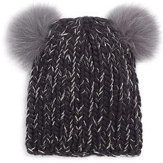 b3b7c23dfe8 Eugenia Kim Mini Double Fox Fur Pom-Pom Beanie ( 184) ❤ liked on Polyvore  featuring accessories
