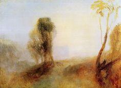 Turner, Joseph Mallord William: Sonnenaufgang, ein Schloss in einer Bucht: »Einöde« (Sunrise, a Castle on a Bay: »Solitude«)