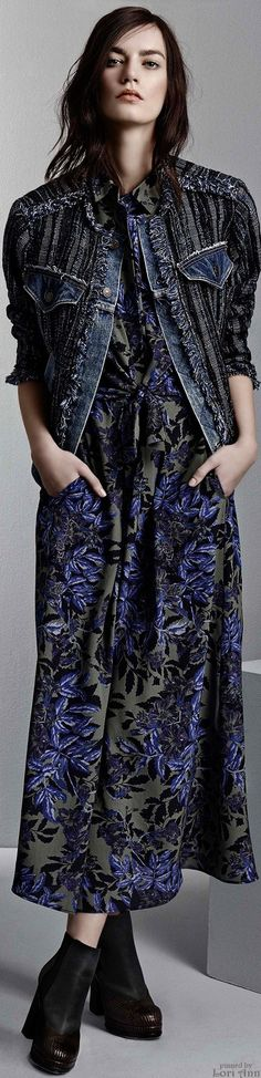 Rebecca Taylor Pre-Fall 2015 This jacket looks like something my Aunty Lubna would make. I love it!