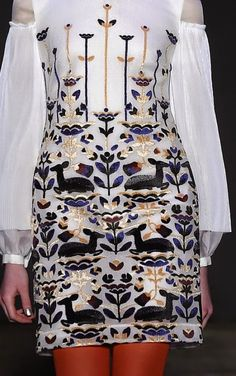 patternprints journal: PRINTS, PATTERNS, TEXTURES AND TEXTILE SURFACES FROM NEW YORK FASHION WEEK (WOMENSWEAR F/W 2015-16) / Honor