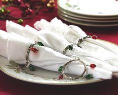 Holiday Christmas Light Bulbs Napkin Rings Set of 4 Christmas Gift Themes, Cork Christmas Trees, Christmas Wall Hangings, Christmas Light Bulbs, Easy Christmas Crafts, Christmas Candles, Christmas Gift Wrapping, Christmas Centerpieces, Christmas Holidays