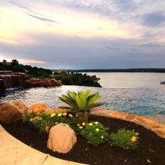 Lake Travis Mediterranean Water Features by Zbranek & Holt Custom Homes, Luxury Custom Home Builders Austin #homebuilderslakewaytx