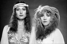 an unusual photo of Sharon Celani and Stevie ~ ☆♥❤♥☆ ~  during Stevie's 'Bella Donna' photo shoot, 1981; photo taken by Herbert W. Worthington III
