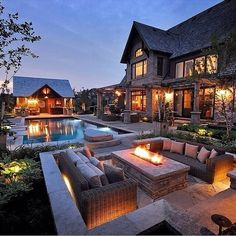 "Luxury Homes Interior Dream Houses Exterior Most Expensive Mansions Plans Modern 👉 Get Your FREE Guide ""The Best Ways To Make Money Online"" Dream Home Design, House Design, Backyard Buildings, Modern Backyard, Backyard Bbq, Infinity Pool Backyard, Cozy Backyard, Dream House Exterior, House Goals"