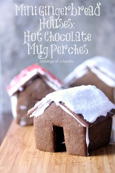 Mini Gingerbread House Hot Chocolate Mug Perches by Cravings of a Lunatic