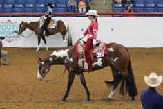 ❦ 14-18 Reserve World Champion- Anne-Marie Fortenberry and A Good Intention. Photo Credit: Brittany Bevis. http://www.equinechronicle.com/breaking-news/alexandra-marlow-and-taylor-prince-take-top-honors-in-western-pleasure-classes-at-2011-ajpha-world-show.html