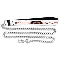 GameWear Baseball Leather Chain Leash - CLL-MLB-SAG-M