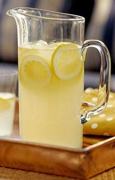 How To Make Old-Fashioned Southern Lemonade: [6 cups] Ingredients: Simple Syrup (see recipe below)* Juice of 6 freshly-squeezed lemons (approximately 1 cup) 4 cups cold water** 1 sliced lemon, for garnish Ice cubes. ** You may add more or less water to your desired taste. Preparation: Prepare Simple Syrup in advance and refrigerate until ready to use. In a large pitcher, combine freshly-squeezed lemon juice and cold Simple Syrup [below] Add water, lemon slices, and ice cubes; stir until we...