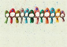 Vogeltjes tekening.