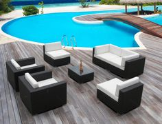 Outdoor Patio Wicker Furniture Sofa Sectional 7pc Resin Couch Set Outdoor Wicker Furniture, Sofa Furniture, Outdoor Decor, Outdoor Sectional, Sectional Sofa, Coffee Table Dimensions, Couch Set, Backyard, Resin