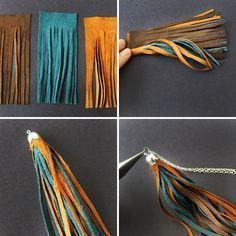 You read the headline and thought to yourself, wait are they really doing a DIY project involving high school and/or college graduation tassels? Well the answer is no! The tassels we're talking about are handmade, suede, and chic Diy Tassel, Tassel Jewelry, Beaded Jewelry, Tassel Necklace, Diy Necklace, Necklaces, Emerald Jewelry, Yoga Jewelry, Gemstone Necklace