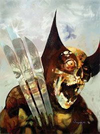 Marvel Zombies 3 Cover: Wolverine and Hulk Fighting Marvel Comics Poster - 30 x 41 cm Marvel Wolverine, Wolverine Images, Marvel Comics Art, Horror Comics, Zombie Kunst, Arte Zombie, Zombie Art, Comic Book Covers, Comic Books Art