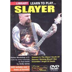 Impara 5 brani degli #Slayer, nota per nota con Andy James! Questo superbo DVD didattico ti insegnerà i riff e gli assoli di questa leggendaria thrash band americana. Tracce incluse: Seasons In The Abyss, South Of Heaven, Raining Blood, War Ensemble e Angel Of Death.