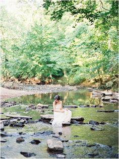 Fine Art Film Forest Bridal Session