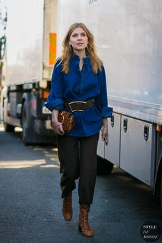 Paris Fashion Week Fall 2017 Street Style: Clemence Poesy   STYLE DU MONDE   Bloglovin'