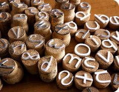 Homemade cork stamps