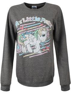 My Little Pony Rainbow Stripes Women's Grey MLP Sweater