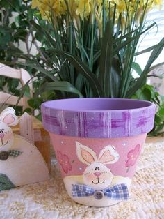 Easter Clay Pot