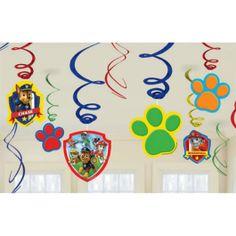 Paw Patrol Swirl Decorations 12ct   Wally's Party Factory #pawpatrol #swirls #decor