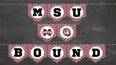 """Custom GRADUATION Printable Banners! Collegiate """"GRAD"""" and high school grads/college """"BOUND"""" party pennants by HoundstoothbyJenn on Etsy - cheap and easy graduation party supplies decor DIY!"""