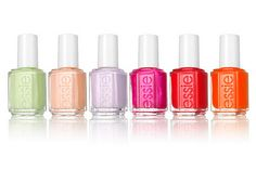 Spring 2012 Collection Essie spring lovin' the lovely pastel shades of peach & lavender at the moment.Essie spring lovin' the lovely pastel shades of peach & lavender at the moment. Essie Spring Colors, Essie Colors, Spring Nails, Nail Colors, Summer Colors, Summer Nails, Nail Polish Trends, Essie Nail Polish, Essie Gel
