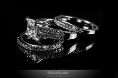 Engagement Ring Set Bridal Solitaire 4 Carat by BelovedSparkles