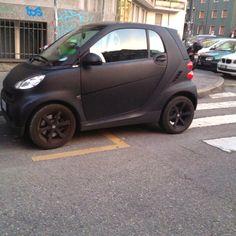 Black Matte Smart Cars Drivers Pinterest Cars